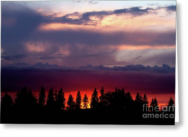Greeting Card featuring the photograph Sunset After Storm by Charles Lupica