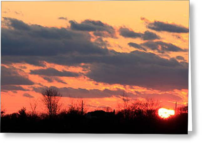 Sunset After The Storm Greeting Card by Ann Murphy