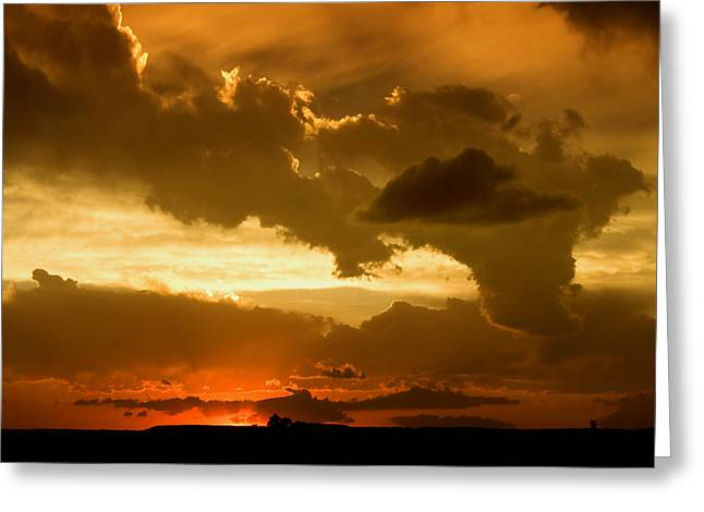 Sunset After The Storm Greeting Card by Ellen Heaverlo