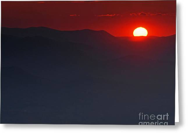 Sunset At Brasstown Bald Greeting Card