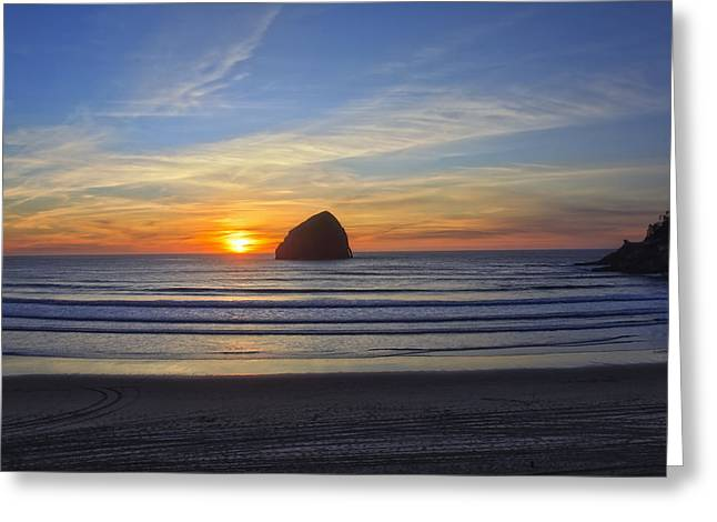 Sunset At Cape Kiwanda Oregon Greeting Card