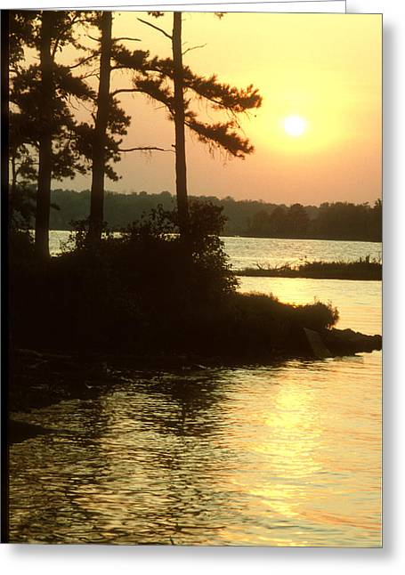 Greeting Card featuring the photograph Sunset At Crab Orchard by Wanda Brandon