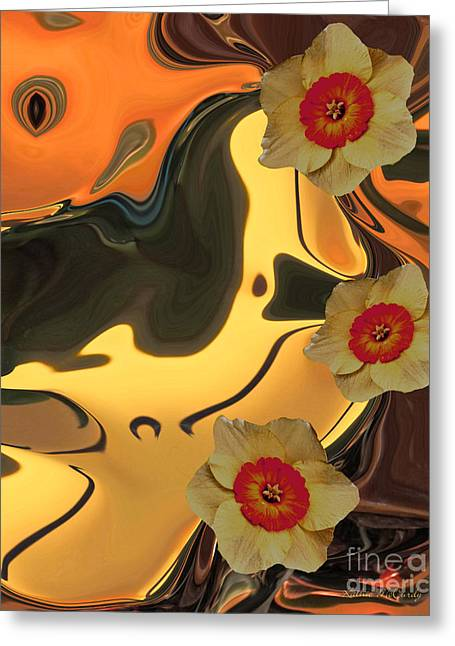 Sunset At Golden Pond Greeting Card by Kathie McCurdy