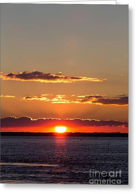 Sunset At Ir Greeting Card
