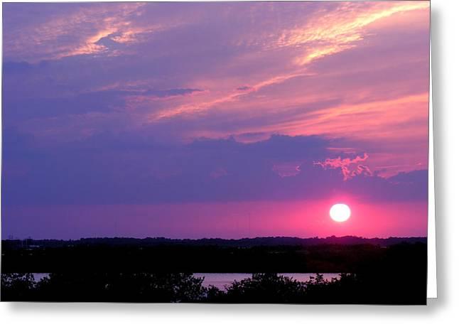Sunset At Merritt Island Greeting Card