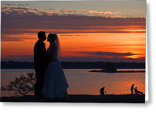 Sunset At Night A Wedding Delight Greeting Card