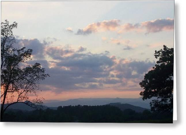 Sunset At Oak Hill Farm Greeting Card by Elizabeth Coats