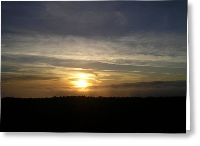 Sunset At Ocean Beach Greeting Card