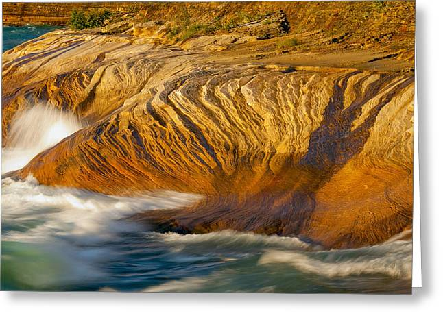 Sunset At Pictured Rocks Greeting Card