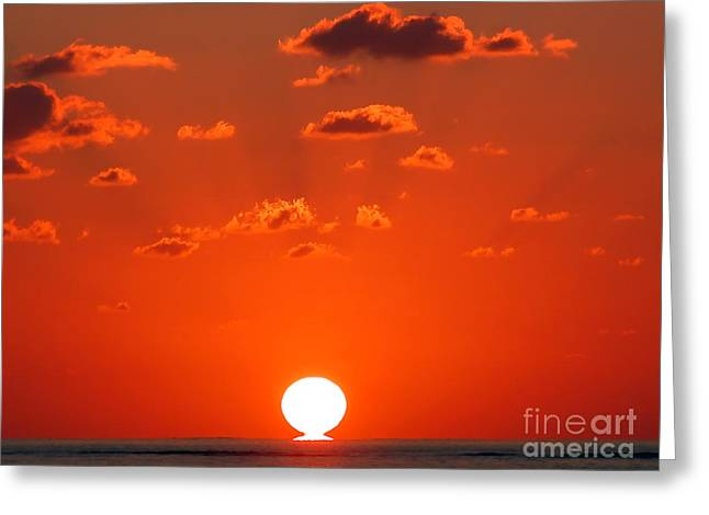 Sunset At Sea Greeting Card by Graham Taylor