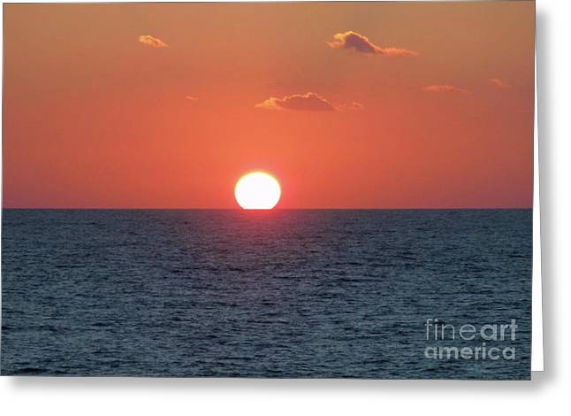 Sunset At Sea Greeting Card by Marilyn West