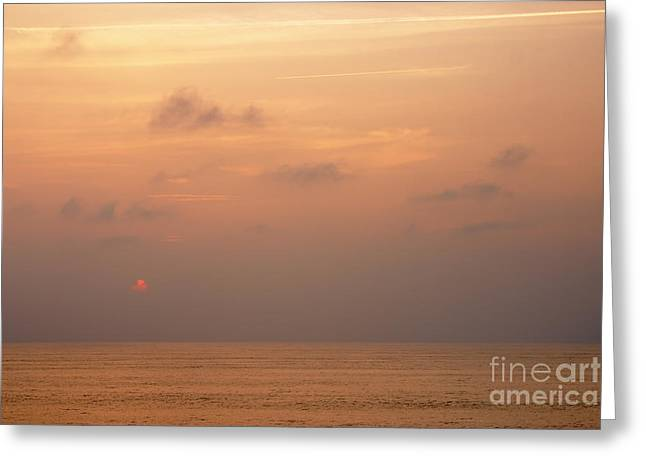 Sunset At Sea Greeting Card by Susan Isakson