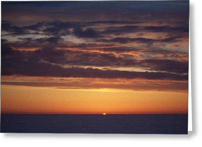 Sunset At Surfside 4 Greeting Card by Peter Mooyman
