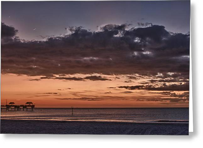 Sunset At The Beach Greeting Card by Chuck Bowser