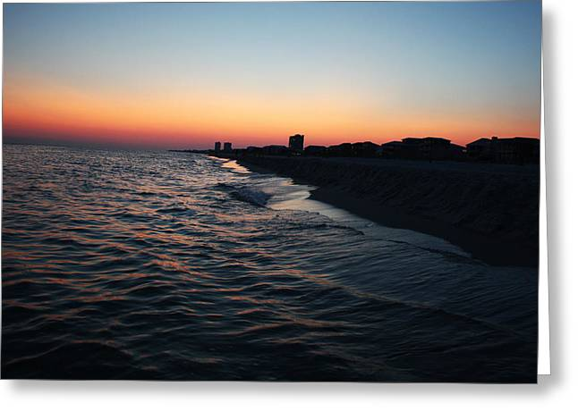 Sunset At The Gulf Shores Greeting Card
