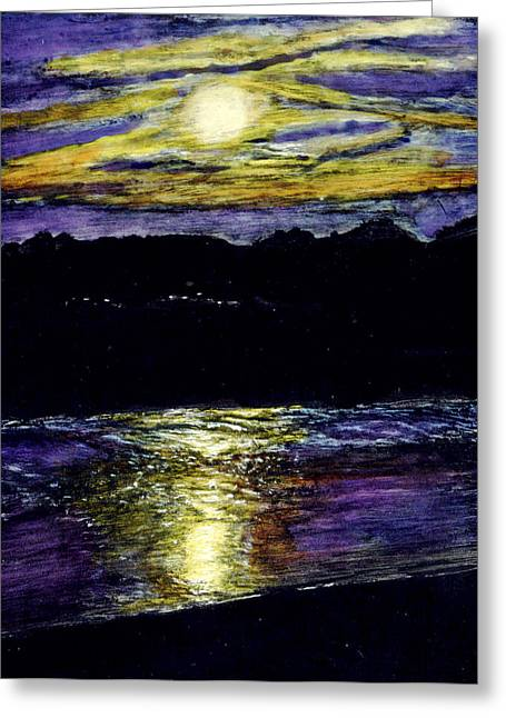 Sunset At York Maine Greeting Card by Robert Goudreau
