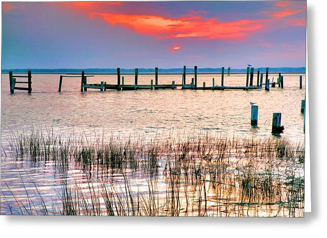 Sunset Bay Iv Greeting Card by Steven Ainsworth