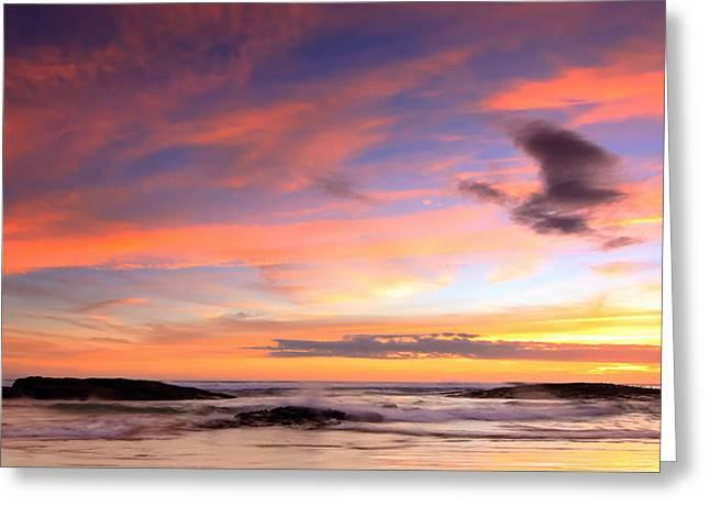 Sunset Beach Greeting Card