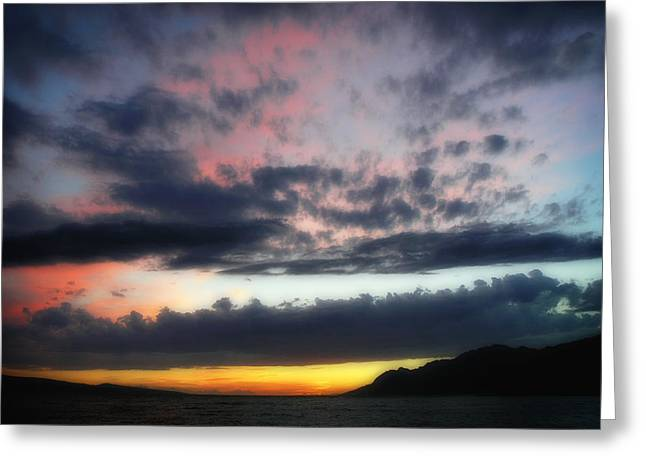 Sunset Before Storm Greeting Card by Zoran Buletic