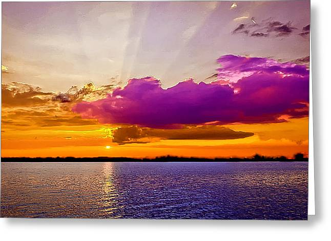 Sunset Greeting Card by Bob and Nadine Johnston