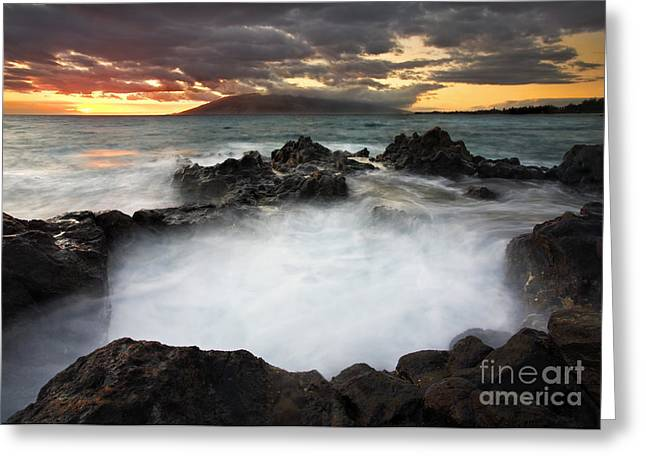 Sunset Boil Greeting Card by Mike  Dawson