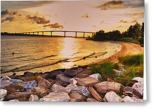 Greeting Card featuring the photograph Sunset Bridge by Kelly Reber