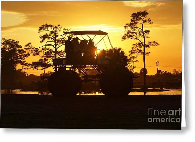 Sunset Buggy Greeting Card by Lynda Dawson-Youngclaus