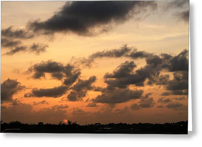 Greeting Card featuring the photograph Sunset by Catie Canetti