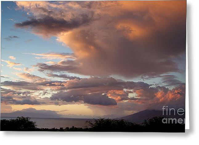 Sunset Clouds Over Maui Greeting Card