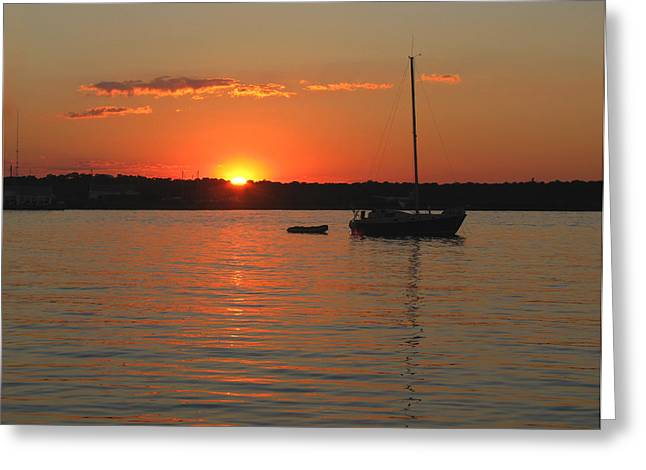 Greeting Card featuring the photograph Sunset Cove by Clara Sue Beym
