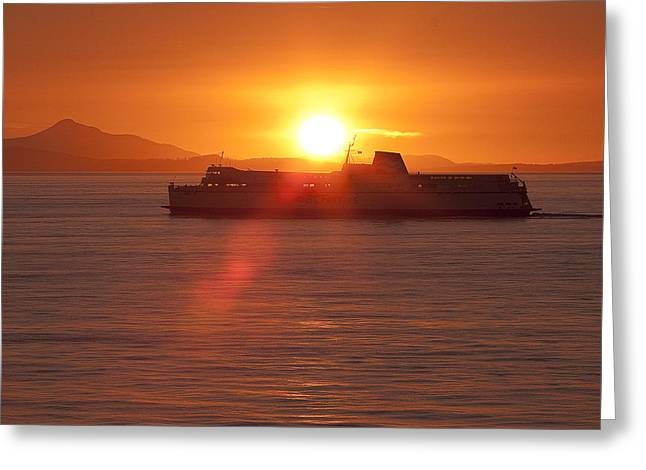 Greeting Card featuring the photograph Sunset by Eunice Gibb