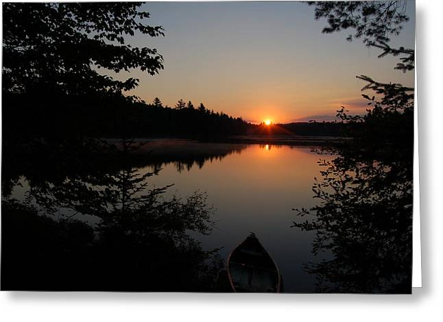 Sunset Evening Greeting Card