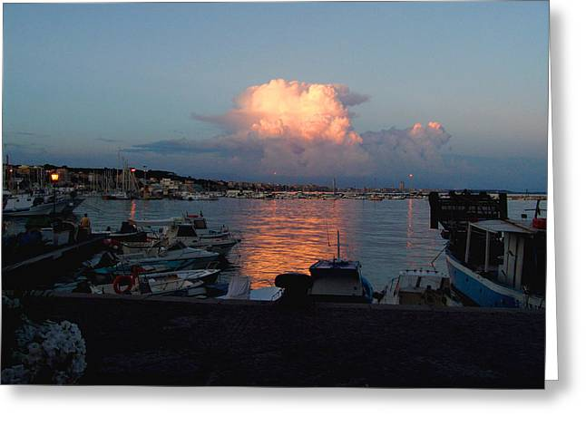 Sunset From Anzio Greeting Card