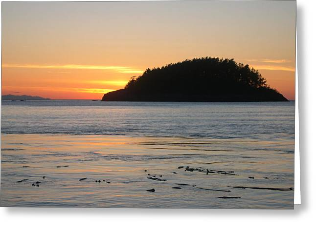 Sunset From Deception Pass Greeting Card