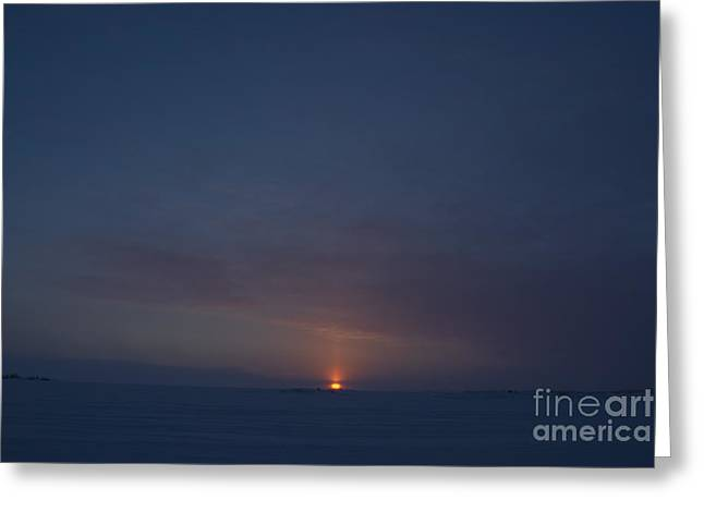 Sunset From Dettah Ice Road Greeting Card