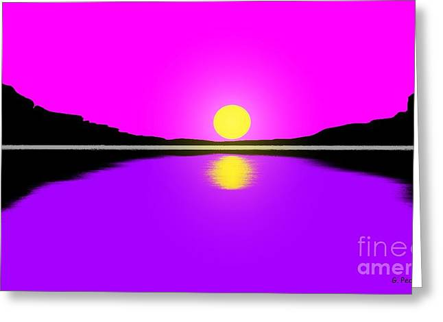 Sunset Greeting Card by George Pedro