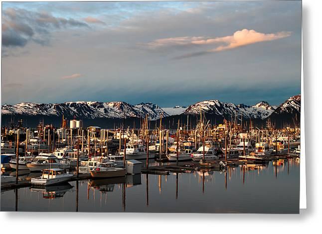 Sunset In Alaska Greeting Card