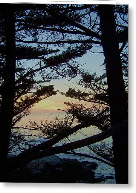 Sunset In Carmel Greeting Card by Christine Drake