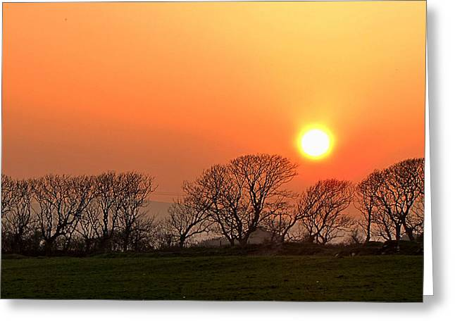 Greeting Card featuring the photograph Sunset In Dingle by Barbara Walsh