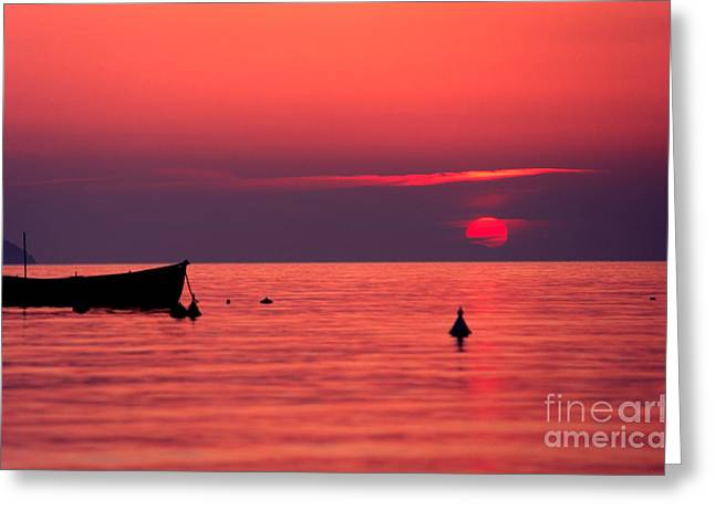 Greeting Card featuring the photograph Sunset In Elba Island by Luciano Mortula