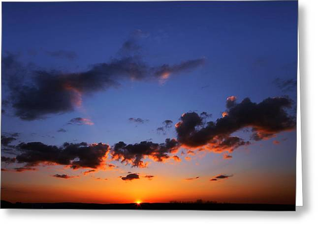 Sunset In Ithaca New York Greeting Card
