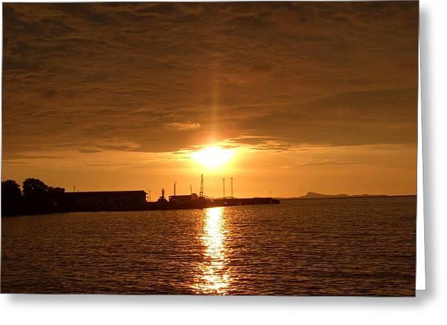 Sunset In Merak Greeting Card by Zulfidar Aiyub
