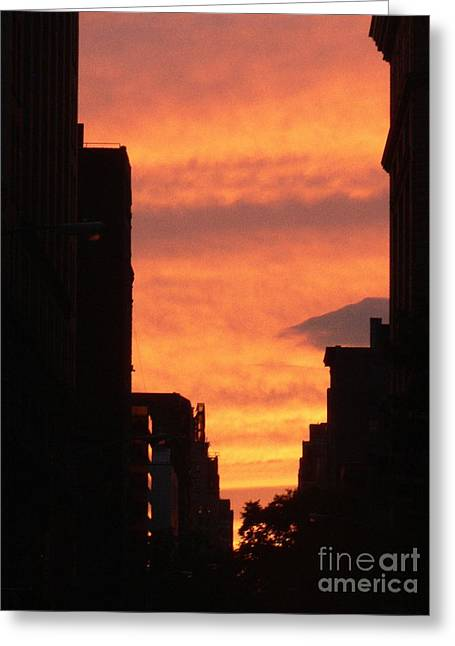 Sunset In Nyc Greeting Card