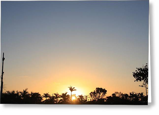 Sunset In Paradise Greeting Card by Nicholas Lowcock
