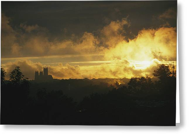 Sunset In Rock Creek Park Greeting Card by David Evans