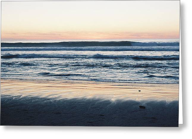 Sunset In Sand Greeting Card by Trent Mallett