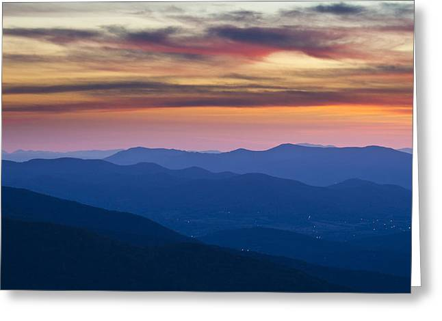Sunset In Shenandoah National Park Greeting Card by Pierre Leclerc Photography