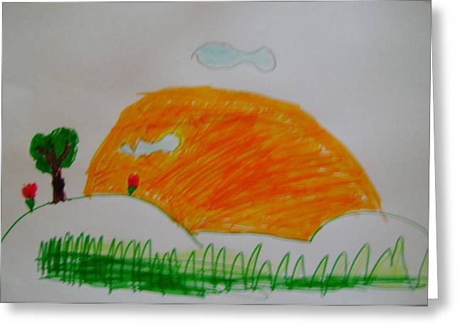 Sunset In Spain Greeting Card