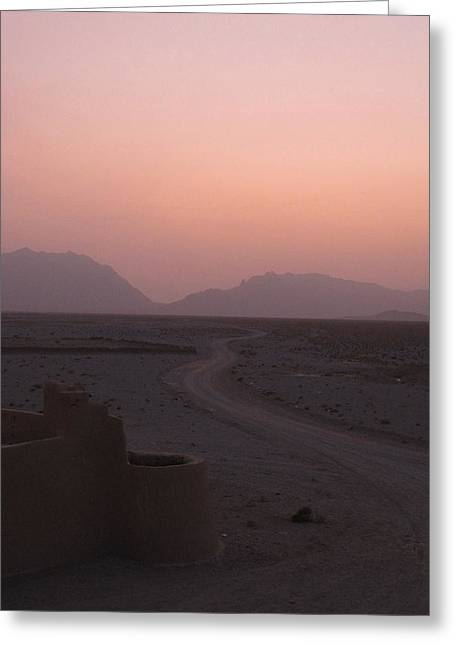 Sunset In The Persian Desert Greeting Card by Tia Anderson-Esguerra