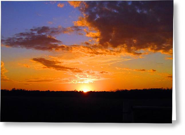 Sunset In Wayne County Greeting Card